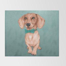 Dachshund, The Wiener Dog Throw Blanket