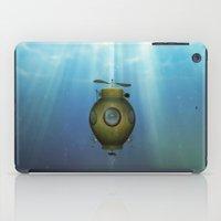 submarine iPad Cases featuring Steampunk submarine by valzart