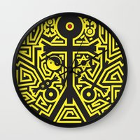 religion Wall Clocks featuring Religion Icon by Thisisnotme