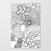 sketch Canvas Prints featuring sketch by Natasha79
