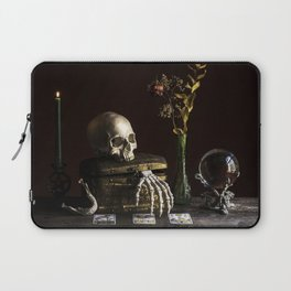 Vanitas, Memento Mori, Macabre Halloween Photo Laptop Sleeve