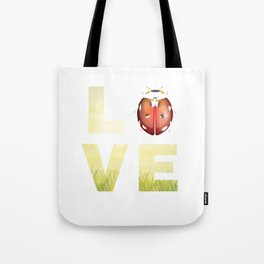 Ladybug Ladybirds Beetle Insects Wildlife Nature Forest Grass Love Bug Gift Tote Bag