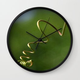 Spring Shaped Passion Flower Tendril  Wall Clock
