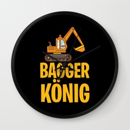Excavator king excavator driver children Wall Clock
