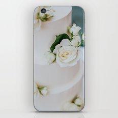 White Wedding Cake and Flowers iPhone & iPod Skin