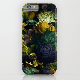 melancholy flowers big seamless pattern 01 tension green iPhone Case