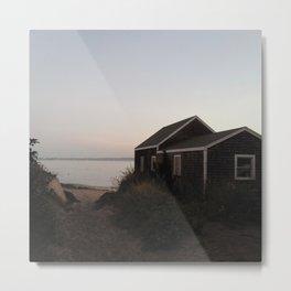 Block Island Beach House Sunrise Metal Print