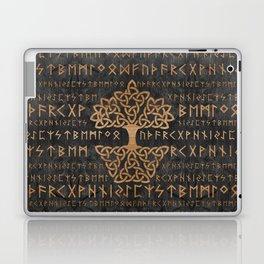 Elder Futhark Pattern and Tree of life Laptop & iPad Skin