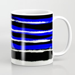 Striped blue black Coffee Mug