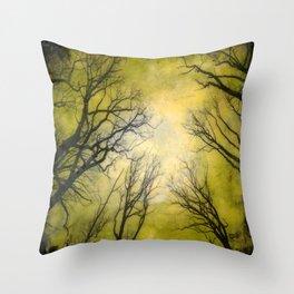 Little Green Spring Throw Pillow