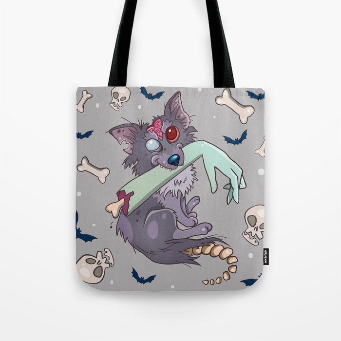 Rufus the zombie dog Tote Bag