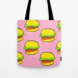 Yogurt Burger Pattern Tote Bag