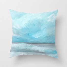 Whirlwind - Stormy Ocean Seascape Throw Pillow