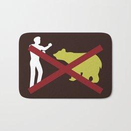Don't Fistfight the Bears Bath Mat