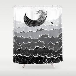 Death At Sea Shower Curtain