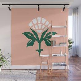 Ajrak Woodblock Floral Print Wall Mural