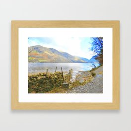 The Shores of Buttermere, Lake District, UK Watercolour Painting Framed Art Print