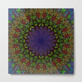 Ultra Violet Flower Tile 76 Metal Print