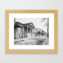 Chartres Street, Vieux Carre, New Orleans, Louisiana 1906 Framed Art Print