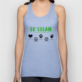 Go Vegan Unisex Tank Top