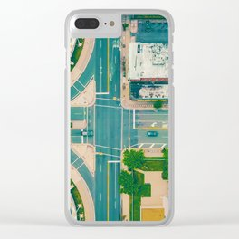 The City From Above (Color) Clear iPhone Case