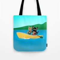 rowing Tote Bags featuring Rowing by BATKEI