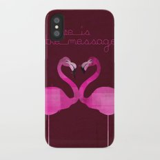 Love is the message iPhone X Slim Case