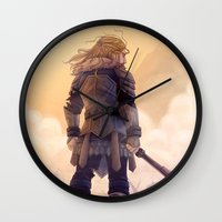 fili Wall Clocks featuring Fili by MaliceZ