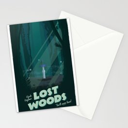 Lost Woods (Legend of Zelda) Travel Poster Stationery Cards
