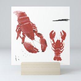 RED LOBSTERS Mini Art Print