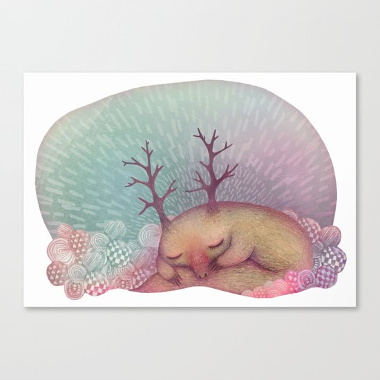 Deep Winter Dreaming (With Eyes Closed) Canvas Print