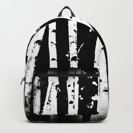Black and White Birch Trees Fade Out Backpack