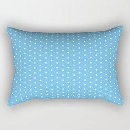 White dots on light blue background Rectangular Pillow
