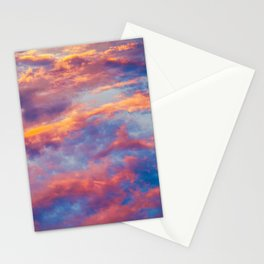 Beautiful Pink Orange Blue Purple Cotton Candy Clouds Fairytale Sky Stationery Cards