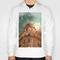 france Hoodies featuring Montpellier  - France by Victoria Herrera