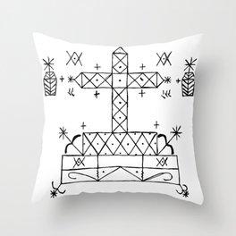 Baron Samedi Voodoo Veve Symbol Throw Pillow