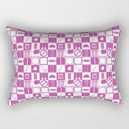 Contraception Pattern (Purple) Rectangular Pillow