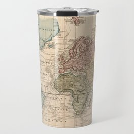 Vintage Map of The World (1823) 2 Travel Mug