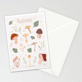 Mushrooms pattern  - Fall/Autumn pattern Stationery Cards
