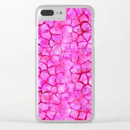 Pink Giraffe Print Clear iPhone Case