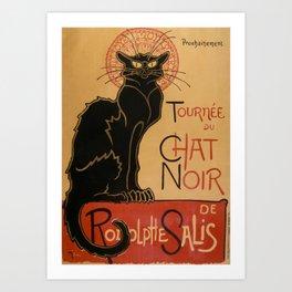 Le Chat Noir The Black Cat Poster by Théophile Steinlen Art Print