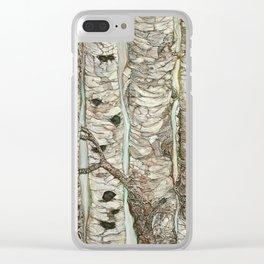 Birchen Forest Clear iPhone Case