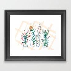 Flowers. Vase, illustration, art, print, pattern, nature, floral, still life, Framed Art Print
