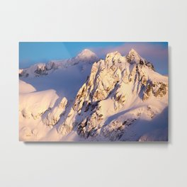Mountains at Sunset in Canada Metal Print