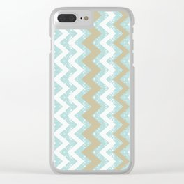 Chevrons and Dots Clear iPhone Case