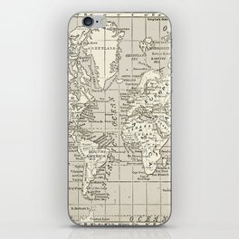 Taupe Wol Map iPhone Skin