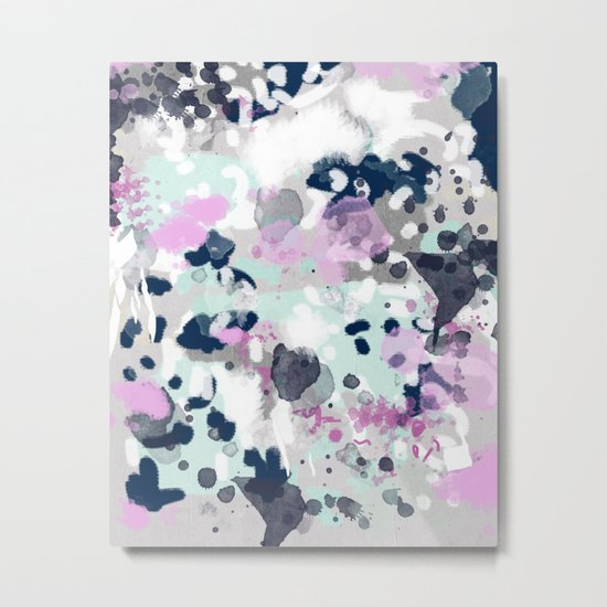 Elsie - modern abstract painting trendy home dorm college decor canvas art Metal Print
