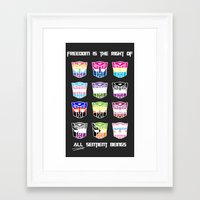 transformers Framed Art Prints featuring Transformers Pride by squ1dp0ny