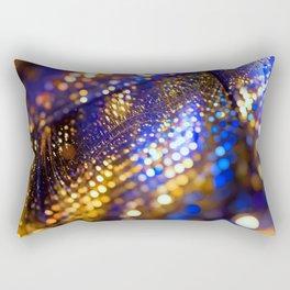 Gold Blue bokeh Rectangular Pillow