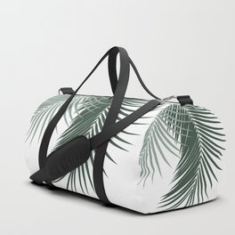 Palm Leaves Soft & Dark Green Vibes #1 #tropical #decor #art #society6 Duffle Bag